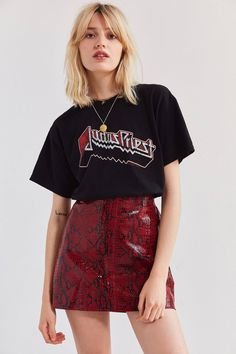 Leather Snakeskin Mini Skirt | Urban Outfitters
