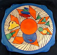 Clarice Cliff Fantasque Art Pottery Plate Rare & Colorful