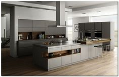 Contemporary style kitchen designs are among the methods to go. You do not require a complicated kitchen so it will be stick out, just some unique designs that can make your kitchen area the envy of the neighbors. Luxury Kitchen Design, Kitchen Room Design, Contemporary Kitchen Design, Luxury Kitchens, Home Decor Kitchen, Interior Design Kitchen, Kitchen Furniture, New Kitchen, Home Kitchens
