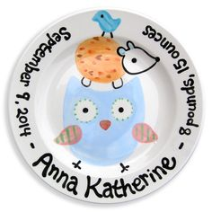 Unique personalized baby gift ideas personalized baby gifts woodland forest friends baby plate lwc 65b negle Gallery
