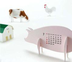 Farm Calendar from Good Morning Inc. Features All the Barnyard Faves #calendar trendhunter.com