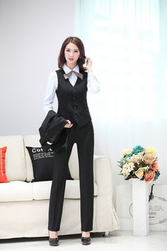 2016 Women High Quality Suit Set Office Ladies Work Wear Women OL ...