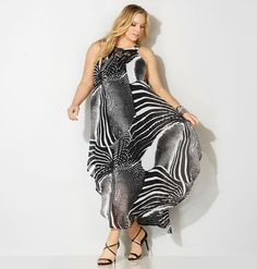 Find lux new dresses for special occasions like the plus size Abstract Chiffon Necklace Maxi Dress available online at avenue.com. Avenue Store
