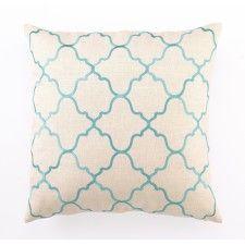DL Rhein Moroccan Tile Pillow, Turquoise