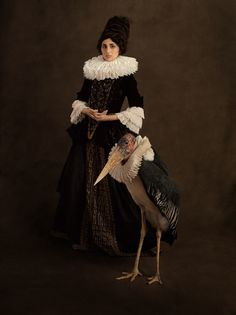 Inspired by Flemish paintings, particularly those by famed Dutch painter Rembrandt, photographer Sacha Goldberger has created a beautiful set of portraits.