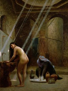 GEROME Jean-Léon - French (Vésoul 1824–1904 Paris) - The Moorish Bath