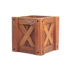 Note: the x's Cedar Planters, Planter Boxes, Square Planters, Outdoor Furniture, Outdoor Decor, Yard Ideas, Flower Pots, Barrel, Woodworking