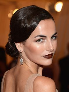 Primped.com.au 2012 MET GALA: THE BEAUTY WRAP-UP ... I'm really loving a dark lip right now xoxo