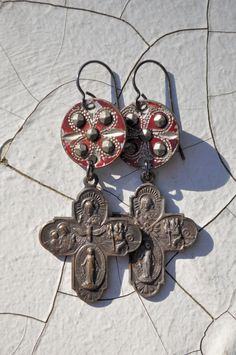 CUT STEEL HOLY Cross Religious Assemblage by HallowedAdornments