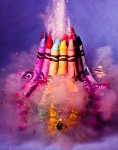 exploding crayons!