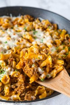 Homemade Hamburger Helper Lasagna - skip the box and try this homemade version. Just a few ingredients, ready in minutes, and the whole family will love it!