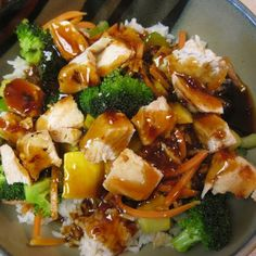 Chicken Teriyaki Rice Bowl - Rumbi Island Grill Copycat