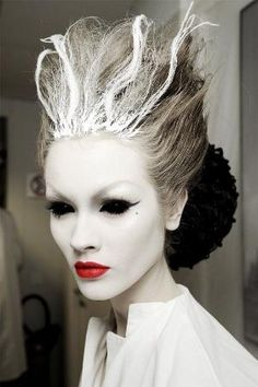 Halloween Ghost Beauty | halloween hair | halloween makeup | halloween costume | ghost costume | bride of frankenstein costume by Michelleahill1965