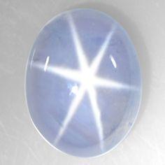 2.25 Cts Natural Lustrous Sharp 6 Rays Unheated Blue Star Sapphire Oval Ceylon $