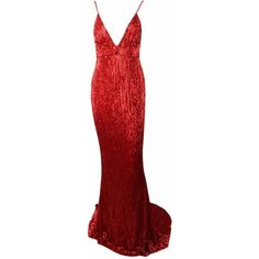Honey couture rosalie red low back sequin formal gown dress (17.050 RUB) ❤ liked on Polyvore featuring dresses, gowns, sexy formal gowns, sequin gown, sexy formal dress, red ball gown and sexy red gown