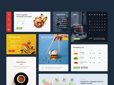 A food and drink UI kit made of useful elements you may use in your upcoming projects.