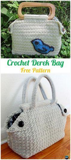 Crochet Derek Bag Free Pattern - #Crochet Handbag Free Patterns