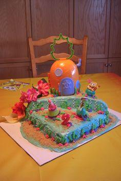 Spongebob birthday cake.
