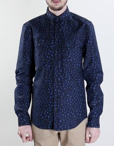 Libertine Libertine Howl 497 Timber Shirt - Peacoat - Kaeho Australia