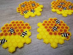 Bügelperlen Some great ideas or themes for Ch Easy Perler Bead Patterns, Melty Bead Patterns, Perler Bead Templates, Beading Patterns, Melty Beads Ideas, Melty Bead Designs, Hama Beads Coasters, Diy Perler Beads, Hama Coaster