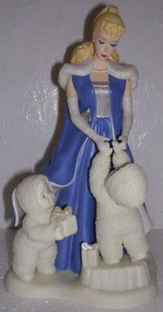 Dept. 56 Snowbabies Under the Midnight Moon with Barbie. #Snowbabies #Statue #Sculpture #Decor #Gift #gosstudio . ★ We recommend Gift Shop: http://www.zazzle.com/vintagestylestudio ★