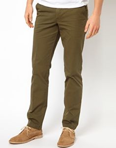United Colors Of Benetton Slim Fit Chinos Latest Fashion Clothes, Latest Fashion Trends, Men's Fashion, Olive Chinos, Slim Fit Chinos, Benetton, Asos Online Shopping, Style Me, Khaki Pants