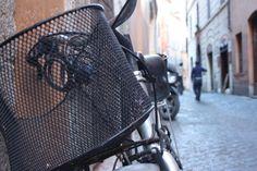 #Bike #rome #parking #Street #basket #bicycle