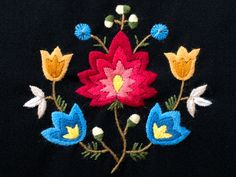 """Kilonga is mainly a subcontractor for Norwegian """"bunad"""" manufactorers. The embroidery samples you find on this site, are some of the many variations of norwegian folk costum design. Crewel Embroidery, Embroidery Patterns, Ripple Afghan, Gourds, Motifs, Folklore, Beadwork, Norway, Stitches"""