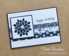 Happy birthday - Floral Phrases - Stampin' Up! - Fiona Bradley