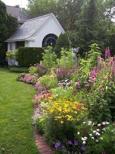 Country flower garden ideas 9