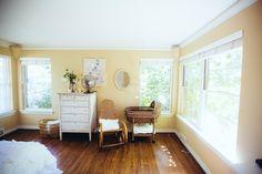 Project Nursery - Vintage Master Bedroom with Nursery Nook Nursery Nook, Nursery Room Decor, Project Nursery, Nursery Ideas, Chic Nursery, Bedroom Ideas, Granny Chic Decor, Blogger Home, Fantasy Bedroom