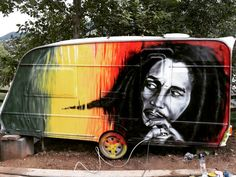 Bob marley airbrushed on rv