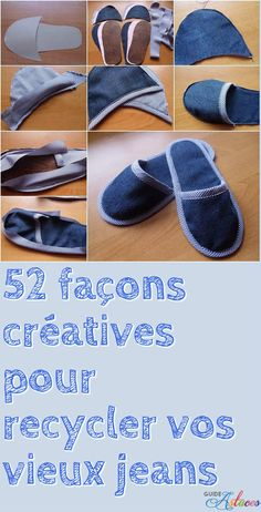52 façons créatives pour recycler vos vieux jeans - Man Tutorial and Ideas Diy Jeans, Sewing Jeans, Sewing Clothes, Diy Clothes, Sewing Aprons, Jean Crafts, Denim Crafts, Artisanats Denim, Denim Purse
