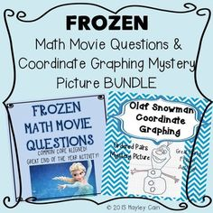 An end of the year activity this product includes frozen math movie