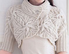 stunning Bolero with Cables by DenisesKnits on Etsy, $175.00