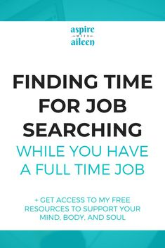 """""""LOOKING FOR A JOB IS LIKE A FULL-TIME JOB!"""" ... says every job seeker ever. Whether this expectation is present when going into the process or not, the amount of time and energy needed to land a new position is often still surprising. For people who hold full-time jobs already, finding extra time for job-seeking in an already packed day can be a true challenge. Read my tips on how to find time for job searching even while you have a full time job! Job Interview Tips, Job Interviews, Happy At Work, Feeling Helpless, Job Search Tips, Hiring Process, Looking For A Job, Career Coach"""