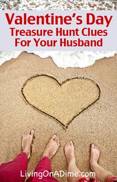 Valentine's Day Treasure Hunt Clues For Your Husband - A Valentine's Present for FREE that your husband will NEVER forget!