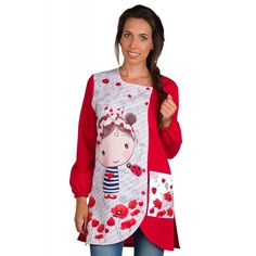 Online sale of clothing for teachers in Europe Blouse Ecole, Teacher Outfits, Girl Cartoon, Baby Dress, Christmas Sweaters, Apron, Floral Tops, Graphic Sweatshirt, Female