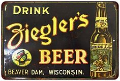 Drink Zieglers Beer Vintage Look Reproduction Metal Sign 8x12 8121931 ** Be sure to check out this awesome product.