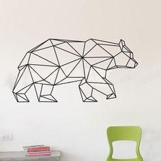 Наклейка на окно и стену 'Геометрия' - Медведь