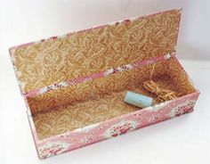 Fabric Covered Box  Make Your Own Keepsake Box. Link Includes Detailed  Instructions On