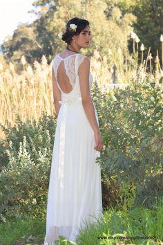 Loren Boho wedding dress Romantic wedding dress by TheBride2B