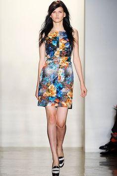 Peter Som Floral Cotton Tweed Dress