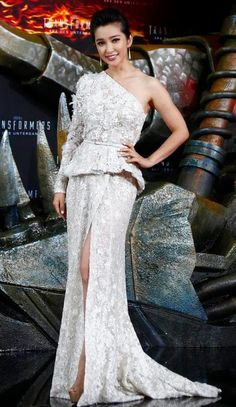 Li Bingbing at 'Transformers: Age of Extinction' premiere | China Entertainment News
