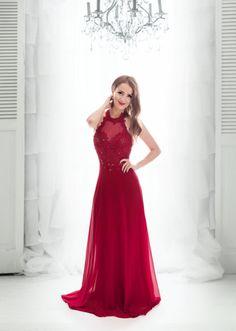1a41fb8031dd Romantické společenské dlouhé šaty. Krajkový živůtek