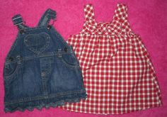 Baby Girl Lot of CRAZY 8 & ARIZONA Dresses size 0-3 Months