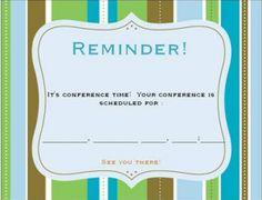 Conference Reminders (post card) Vista Print, Parent Teacher Conferences, Parents As Teachers, Teacher Tools, Post Card, Classroom Organization, School Stuff, Frames, Parenting