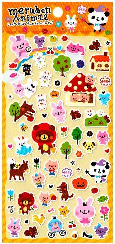 Pool Cool Animal Fairy Tale Sticker Sheet