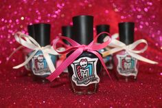Personalized nail polish for Monster High Birthday Spa Party. Spa Birthday Parties, Spa Party, 10th Birthday, Girl Birthday, Birthday Ideas, Cumple Monster High, Monster High Birthday, Monster High Party, Its My Bday