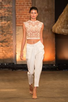 @Christian Wilsson Siriano #ss14 #nyfw and the crop tops keep living